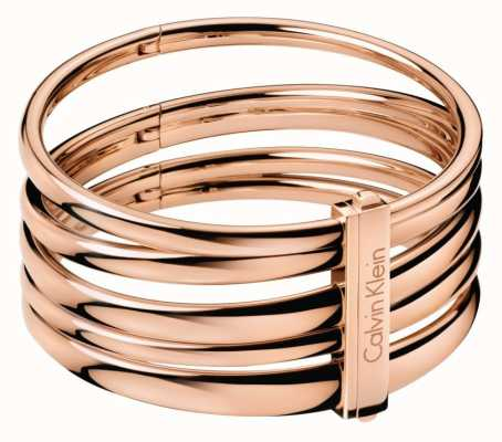 Calvin Klein Sumptuous Rose Gold PVD Plated Bangle KJ2GPD10010S