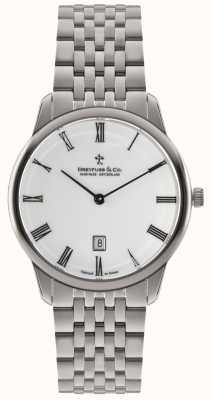Dreyfuss Mens Stainless Steel Bracelet White Dial DGB00135/01