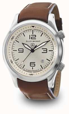 Elliot Brown Mens Canford Brown Leather Ivory Dial 202-003-L03