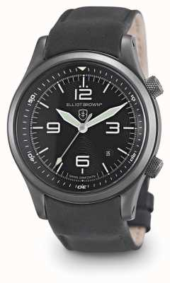 Elliot Brown Mens Canford Black Leather Black Dial 202-004-L10