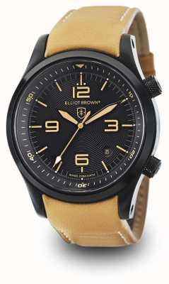 Elliot Brown Mens Canford Tan Leather Black Dial 202-008-L04