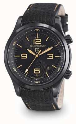 Elliot Brown Mens Canford Black Leather Black Dial 202-008-L11
