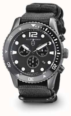 Elliot Brown Mens Bloxworth Black Nylon Black Dial 929-001-N02