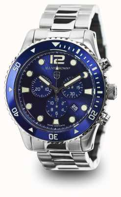 Elliot Brown Mens Bloxworth Stainless Steel Blue Dial 929-003-B01