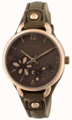Kahuna Womens Taupe Brown Strap Brown Dial KLS-0310L