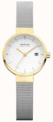 Bering Womens Stainless Steel Mesh White Dial 14426-010