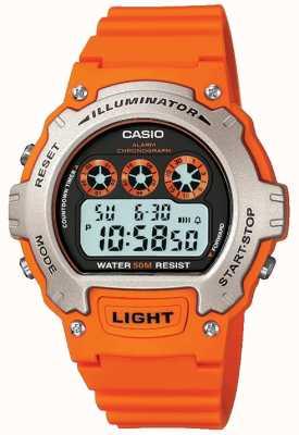 Casio Sports Alarm Unisex Illuminator Chronograph W-214H-4AVEF