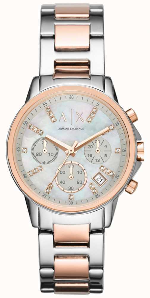cc032276c4b Armani Exchange Chronograph Two Tone Bracelet Strap Watch AX4331 ...