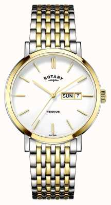 Rotary Mens Two Tone Gold Plated GB05301/01