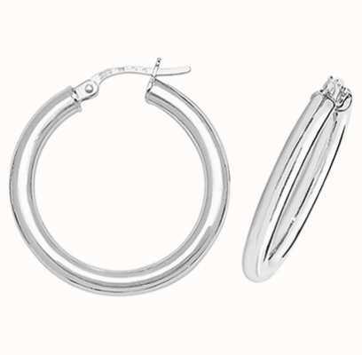 Treasure House 9k White Gold Hoop Earrings 20 mm ER383W