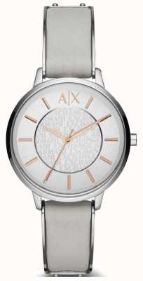 Armani Exchange Ladies Olivia Leather Strap Watch AX5311