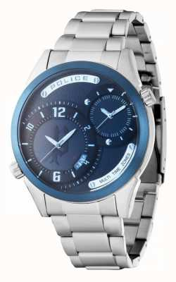 Police Mens Stainless Steel Strap Navy Dial 14540JSTBL/13M