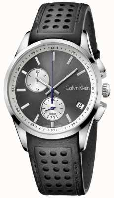 Calvin Klein Mens Bold Chronograph Black Leather K5A371C3