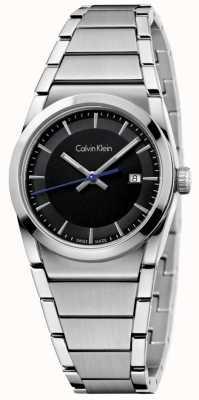 Calvin Klein Ladies Step Watch Black Dial K6K33143