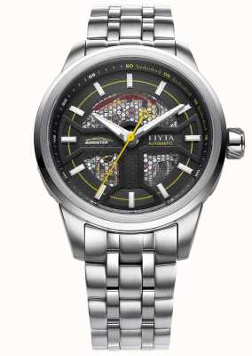 FIYTA Mens Stainless Steel Strap Black Dial GA866003.WBW