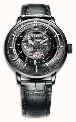 FIYTA Mens Leather Strap Round Limited Edition GA8606.BBB