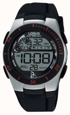 Lorus Novak Foundation Digital Black Silicone Strap R2375KX9