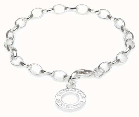 Thomas Sabo Bracelet 16cm Charm Carrier 925 Sterling Silver X0031-001-12-S