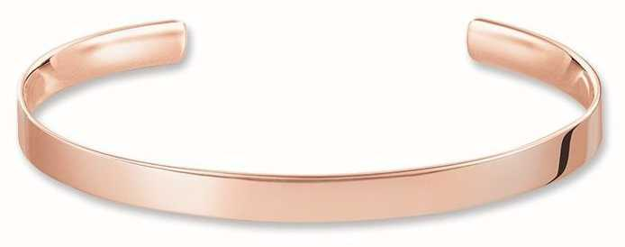 Thomas Sabo Bangle 15.5cm 925 Sterling Silver Gold Plated Rose Gold AR087-415-12-S