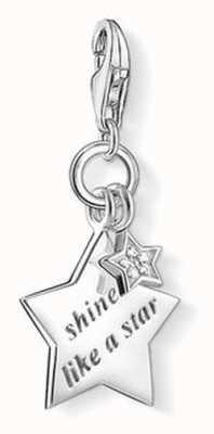 Thomas Sabo Shine Like A Star Charm White 925 Sterling Silver/ White Diamond DC0031-725-14