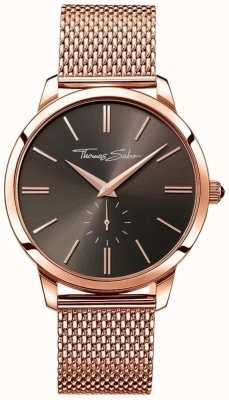 Thomas Sabo Mens Stainless Steel Strap Rose Gold Dial WA0177-265-206-42
