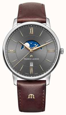 Maurice Lacroix Mens Eliros Brown Leather Strap EL1108-SS001-311-1