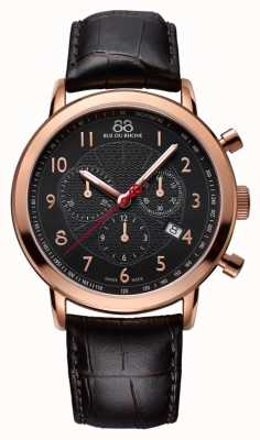 88 Rue du Rhone Mens Black Rose Gold Watch Black Dial 87WA120050