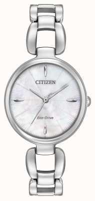 Citizen Womens Stainless Steel Bracelet Mother Of Pearl Dial EM0420-54D