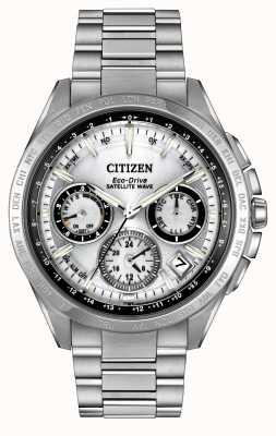 Citizen Mens Eco-Drive Silver Satellite Wave F900 CC9010-74A