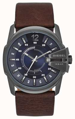 Diesel Master Chief Blue Dial Brown Leather Strap DZ1618