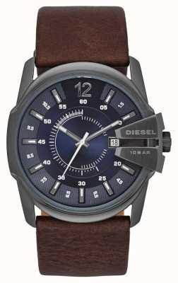Diesel Master Chief Blue Dial Brown Leather Strap DZ1618