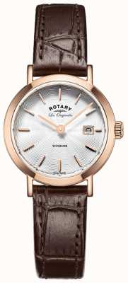 Rotary Womens Les Originales Windsor Brown Leather Strap LS90157/02
