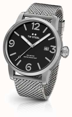 TW Steel Mens Maverick Mesh Strap Black Dial MB11