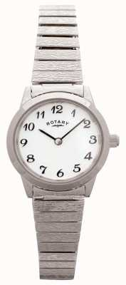 Rotary Womens Expandable Stainless Steel White Dial LBI0761