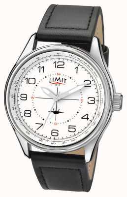 Limit Mens Pilot Black Strap White Dial 5616.01