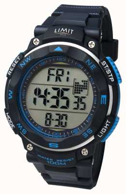 Limit Mens Sport Watch Black Strap 5487.66