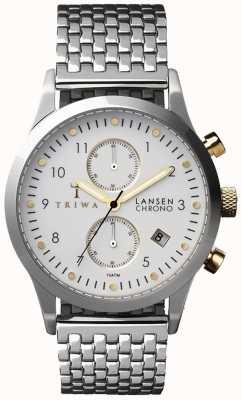 Triwa Mens Ivory Lansen Silver Mesh Strap White Chronograph LCST106-BR021212