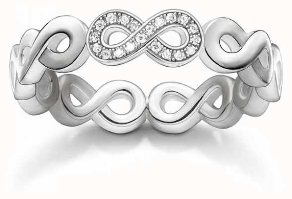 Thomas Sabo Sterling Silver Infinity Ring 52 D_TR0003-725-14-52