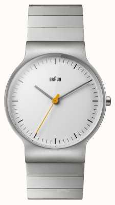 Braun Mens Stainless Steel Bracelet White Dial BN0211SLBTG