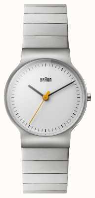 Braun Womens Stainless Steel Bracelet White Dial BN0211SLBTL