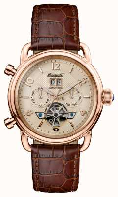 Ingersoll Men's 1892 The New England Brown Leather Strap I00901B