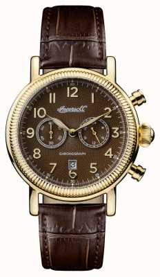 Ingersoll Mens 1892 The Daniels Brown Leather Strap Brown Dial I01003