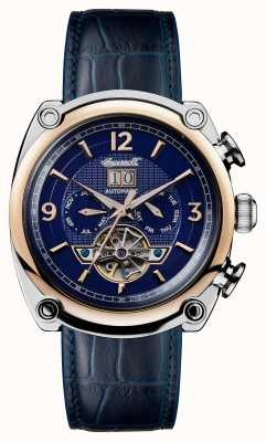 Ingersoll Mens 1892 The Michigan Blue Leather Strap Blue Dial I01101