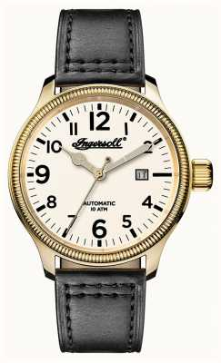 Ingersoll Mens Discovery The Apsley Grey Leather Strap White Dial I02702
