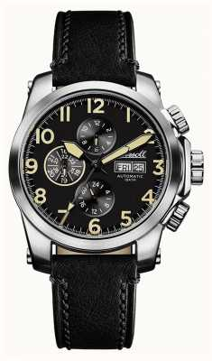 Ingersoll Mens Discovery The Manning Black Leather Strap Black Dial I03101