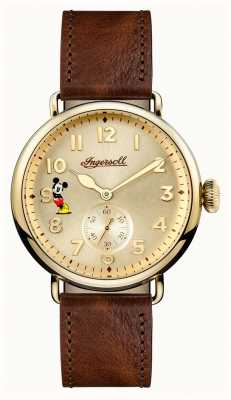 Disney By Ingersoll Mens Union The Trenton Disney Limited Edition Brown Leather ID01201
