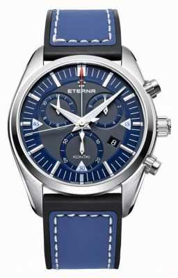 Eterna Mens Kontiki Chronograph Quartz Blue 1250.41.81.1303