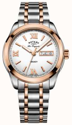 Rotary Men's Two Tone Legacy Stainless Steel Watch GB90175/06