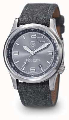 Elliot Brown Mens Tyneham Grey Strap Grey Dial Display Caseback 305-D02-F01