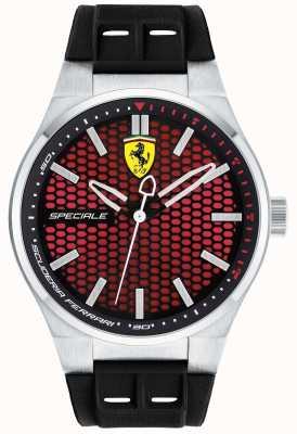 Scuderia Ferrari Mens Speciale Black Rubber Strap Red Dial 0830353